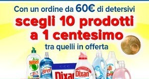 10 detersivi Henkel a 1 centesimo l'uno