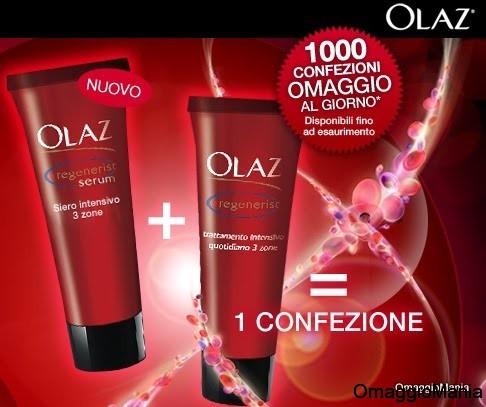 campione omaggio Olaz Regenerist siero+crema