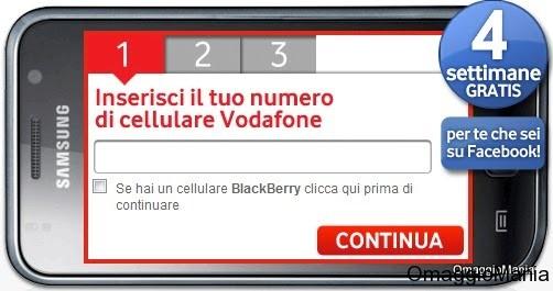 Mobile Internet gratis Vodafone Facebook