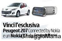 Vinci Peugeot 207 e Nokia C7 con Ovi Nokia mini