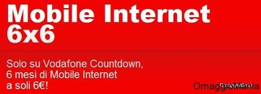 Vodafone Countdown Mobile Internet 6x6