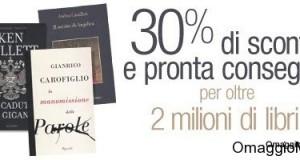 lancio Amazon.it libri scontati al 30%