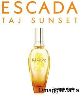 campione omaggio profumo Escada Taj Sunset