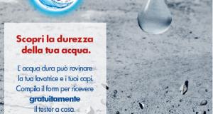 test durezza acqua omaggio da Calgon