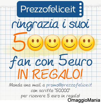 5 euro gratis da Prezzo Felice
