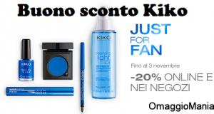 buono sconto Kiko 20%