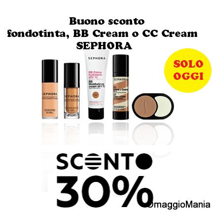 buono sconto Sephora Fan Fridays fondotinta, BB Cream o CC Cream
