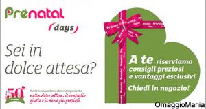 cofanetto gravidanza gratis con i Prénatal Days