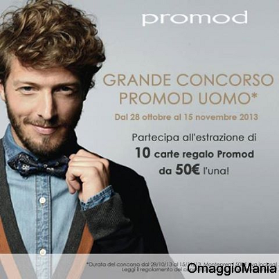 concorso Promod per vincere carte regalo