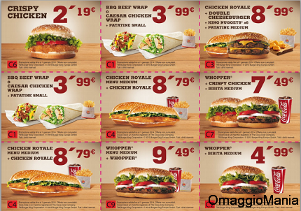 coupon Burger King fino al 1 gennaiocoupon Burger King fino al 1 gennaio
