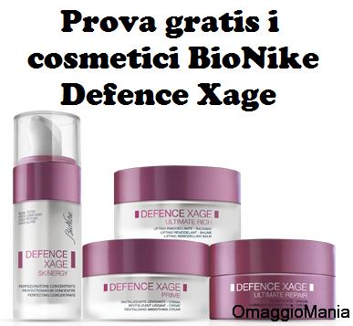 prova gratis i cosmetici BioNike Defence Xage