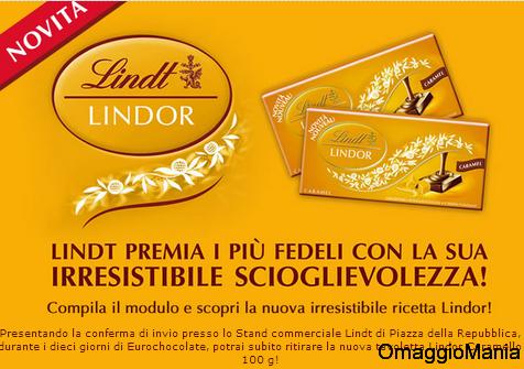 tavoletta lindor gratis da Eurochocolate 2013
