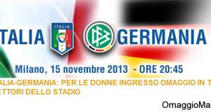 biglietti omaggio stadio partita Italia-Germania
