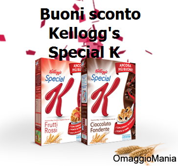 buoni sconto Kellogg's Special K