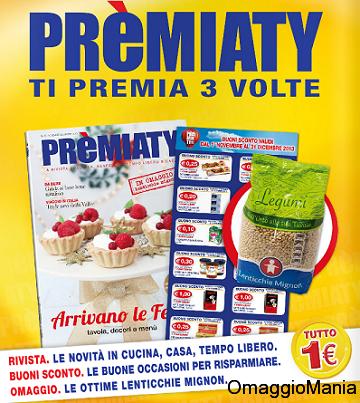 Buoni sconto e lenticchie omaggio con la rivista pr miaty for Buoni omaggio