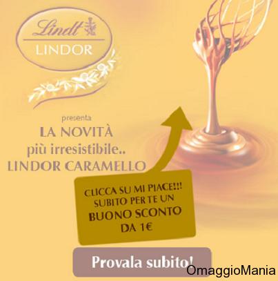 buono sconto Lindor al caramello Lindt