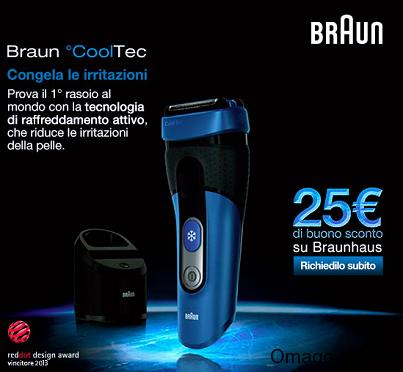 buono sconto rasoio Braun Cooltec