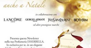 campioncini omaggio Lancome, Armani, Yves Saint Laurent da Esserbella