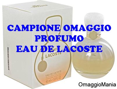 campione omaggio profumo Eau de Lacoste