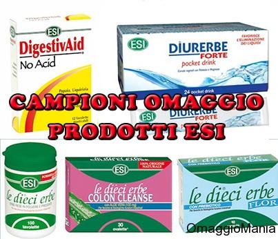 campioni omaggio prodotti a base naturale ESI