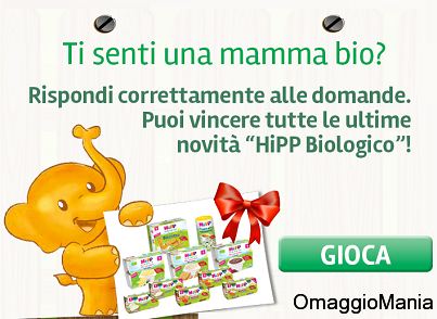concorso a premi Hipp - vinci fornitura di prodotti per bambini