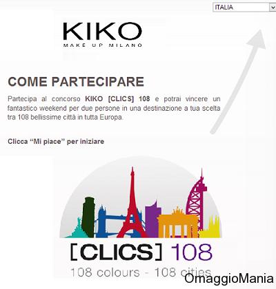 concorso a premi KIKO