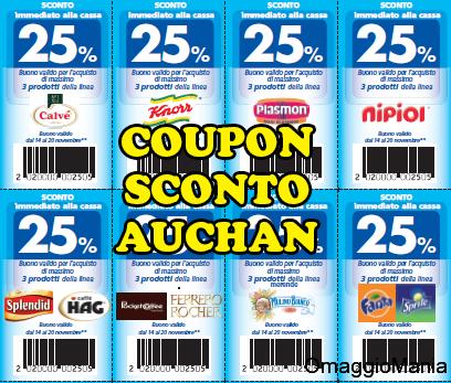 20 coupon Auchan da stampare