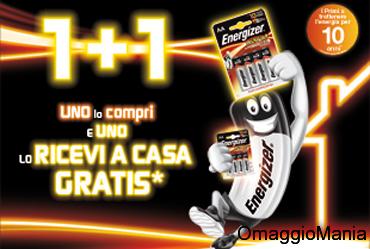 pile Energizer gratis con 1+1