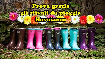 testare gratis stivali da pioggia Havaianas