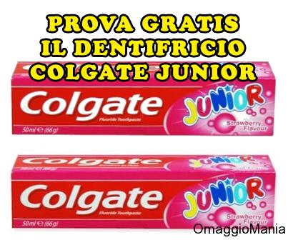 prova gratis il dentifricio Colgate Junior