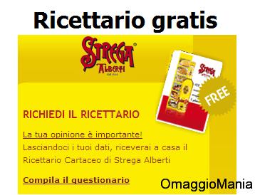 ricettario gratis Strega Alberti