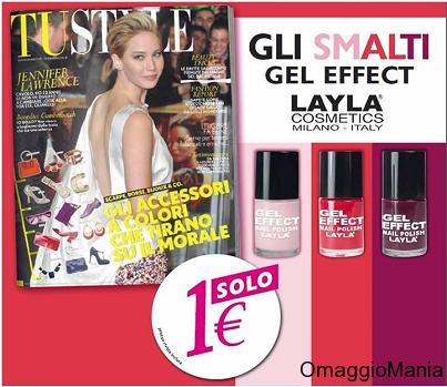 smalto Layla Gel Effect in omaggio con TU Style