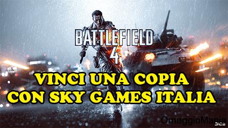 vinci Battlefield 4 con Sky Games Italia