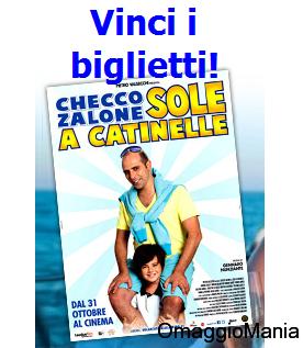 vinci biglietti Sole a Catinelle di Checco Zalone