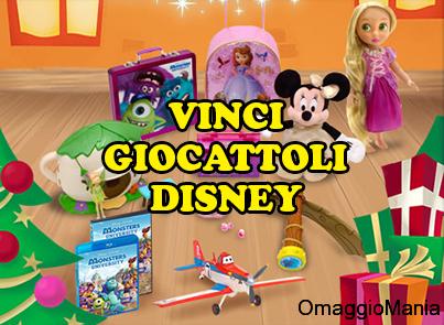 """vinci giocattoli Disney con il concorso a premi """"Vinci i tuoi regali di Natale"""""""