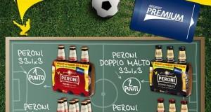 vinci tessera Mediaset Premium con Birra Peroni