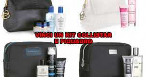 vinci un kit cosmetici Collistar e Piquadro
