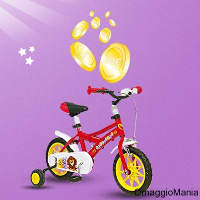 buoni sconto Pampers e bicicletta gratis