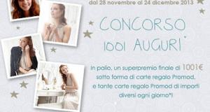 concorso Promod 1001 auguri