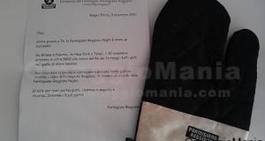 omaggio ricevuto da Parmigiano Reggiano