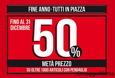 sconti metà prezzo Piazza Italia