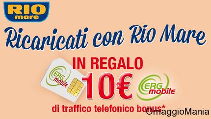 sim Erg Mobile gratis con 10 euro di traffico omaggio con Rio Mare