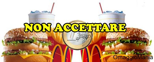 truffa McMenu McDonald's a 1 euro