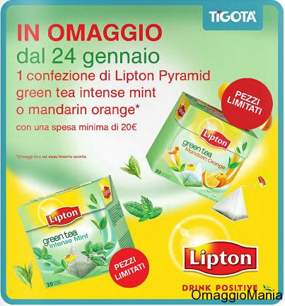 Tè Lipton Pyramid in omaggio da Tigotà