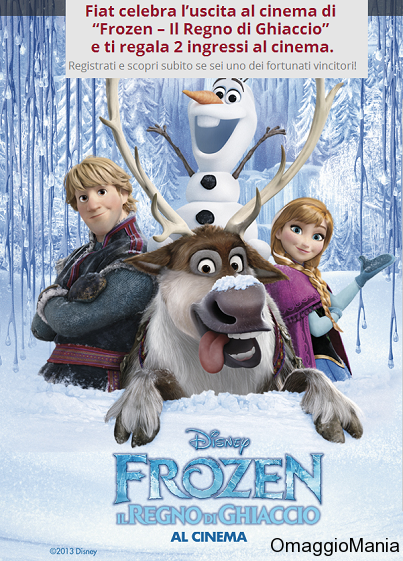 biglietti gratis cinema frozen con fiat
