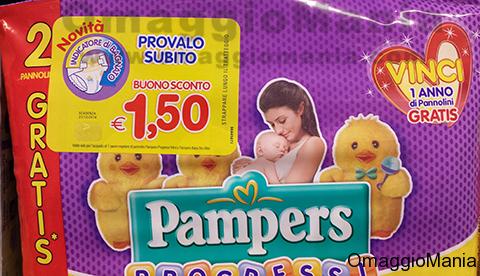 buono sconto pannolini Pampers Progressi