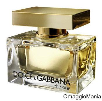 campione omaggio profumo dolce e gabbana the one