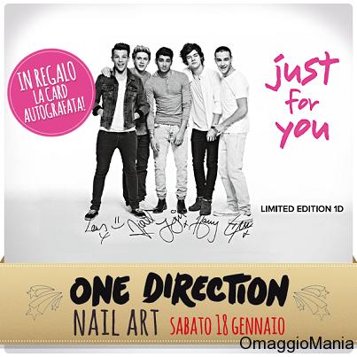 card autografata One Direction da Limoni e La Gardenia