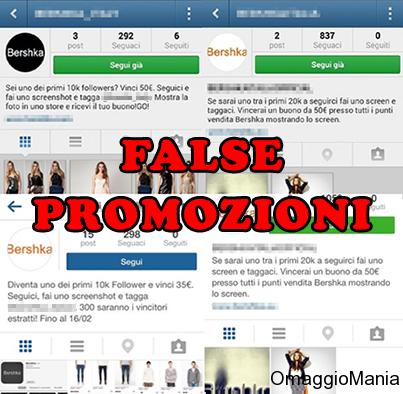 false promozioni Bershka