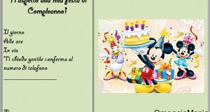 invito compleanno gratis